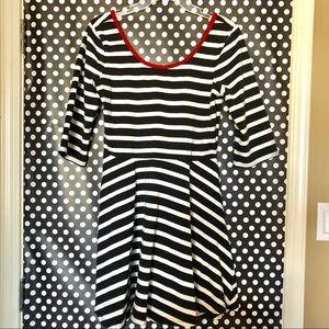 Express Striped Open Back Dress